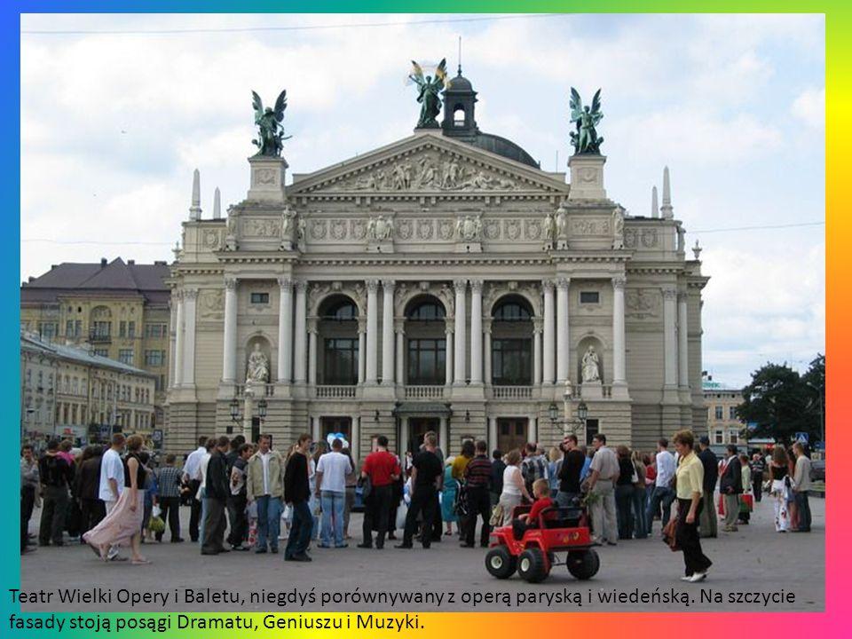 Teatr Wielki Opery i Baletu, niegdyś porównywany z operą paryską i wiedeńską.
