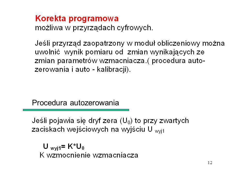 12 Procedura autozerowania