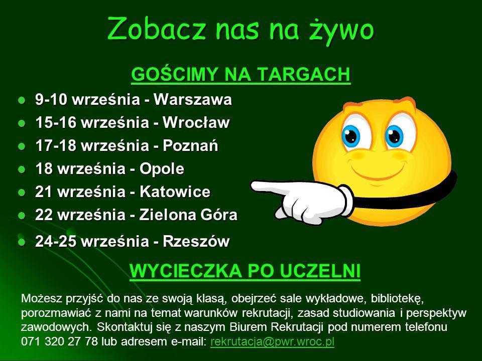 Zobacz nas na żywo GOŚCIMY NA TARGACH 9-10 września - Warszawa 9-10 września - Warszawa 15-16 września - Wrocław 15-16 września - Wrocław 17-18 wrześn