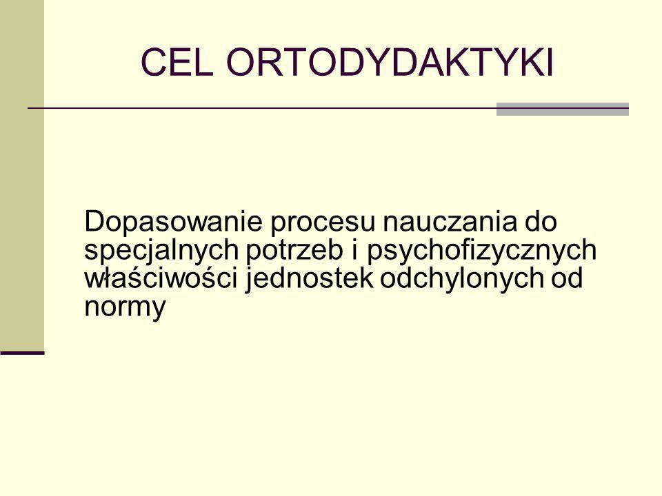 ZASADY ORTODYDAKTYKI Ortodydaktyka jest działem dydaktyki ogólnej, a zatem ogólne zasady nauczania przyjęte w dydaktyce ogólnej mają zastosowanie również w nauczaniu specjalnym