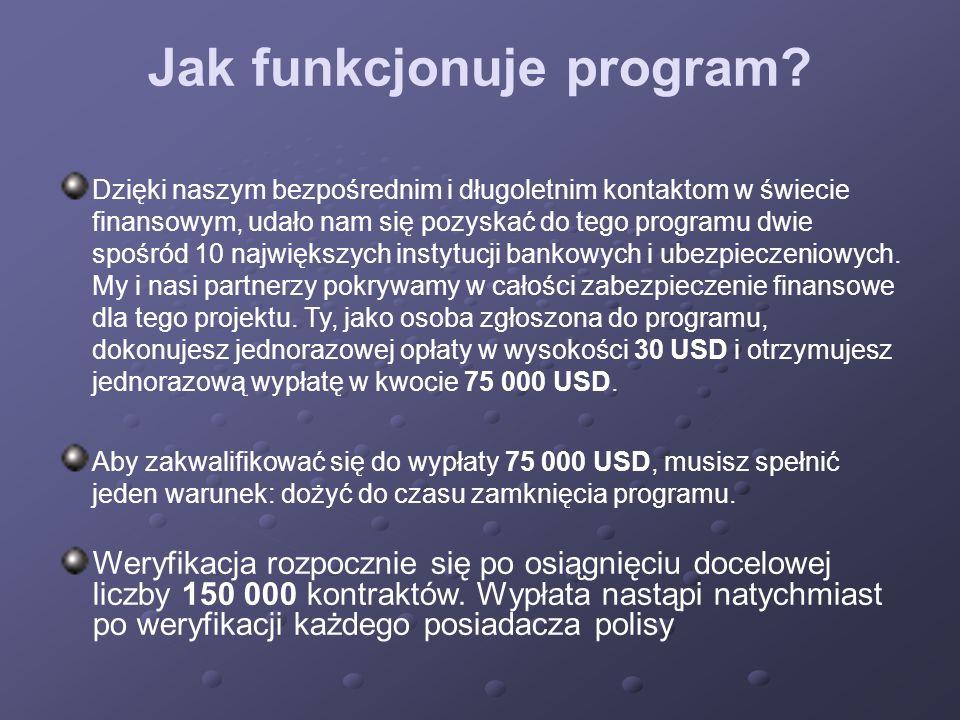 Jak funkcjonuje program? Dzięki naszym bezpośrednim i długoletnim kontaktom w świecie finansowym, udało nam się pozyskać do tego programu dwie spośród