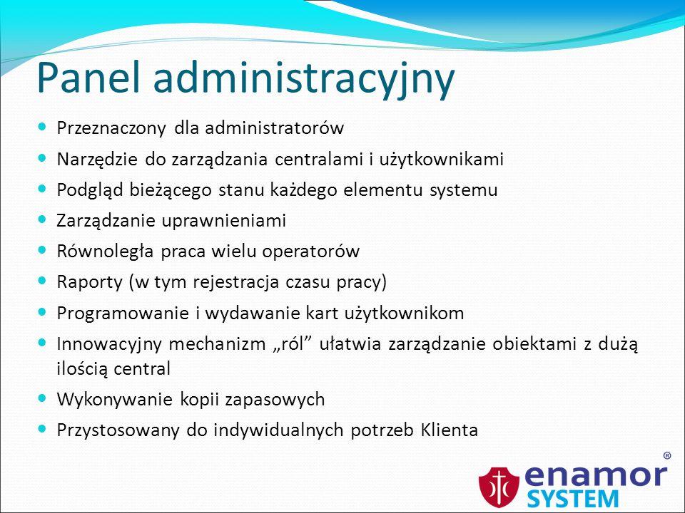 Wirtualizacja Serwery łączności i bazy danych oraz WWW mogą znajdować się fizycznie na tym samym komputerze Dla małych wdrożeń (< 5 central) można zastosować pojedynczy komputer z maszyną wirtualną udostępniającą środowisko dla serwera albo klienta Izolacja poszczególnych usług (np.
