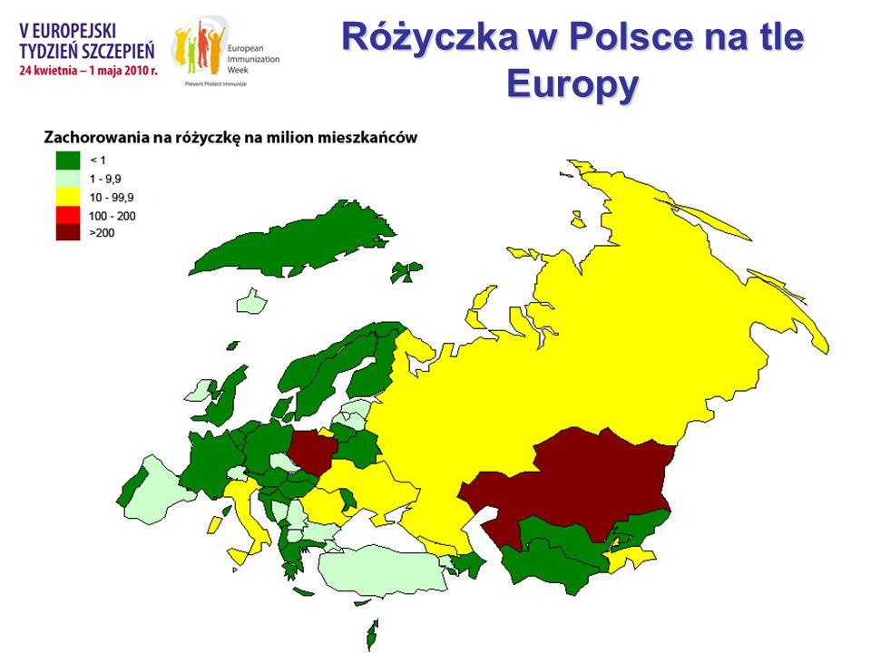Różyczka w Polsce na tle Europy