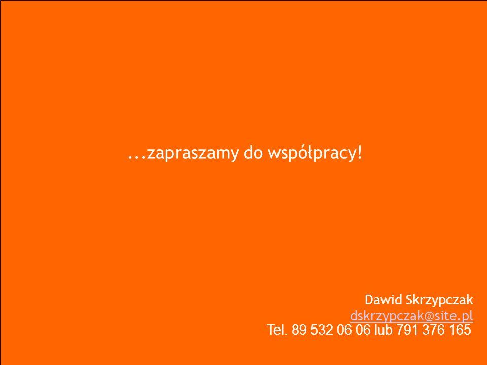 ...zapraszamy do współpracy! Dawid Skrzypczak dskrzypczak@site.pl dskrzypczak@site.pl Tel. 89 532 06 06 lub 791 376 165