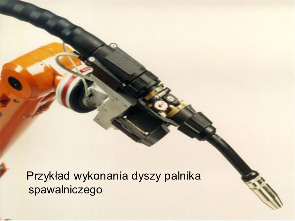 Przykład wykonania dyszy palnika spawalniczego