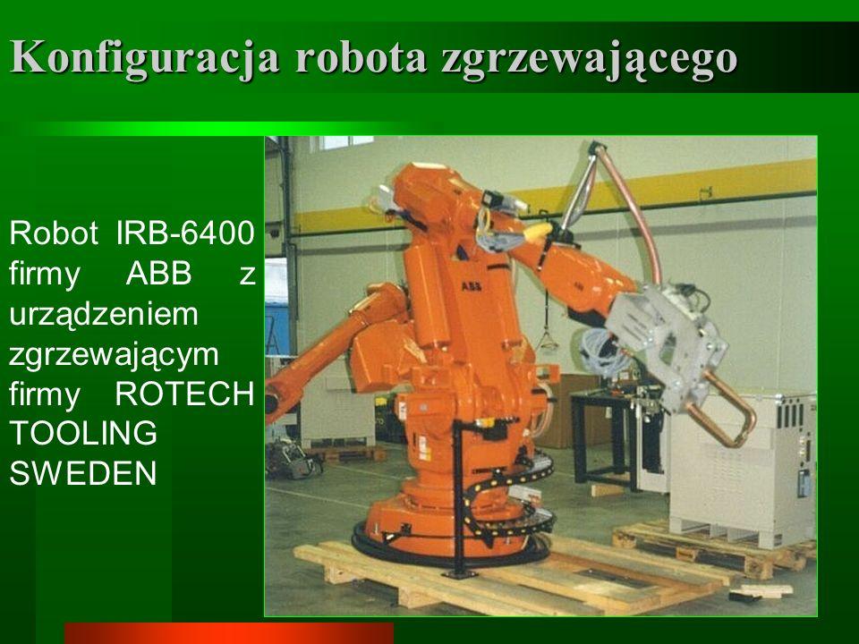 8 Konfiguracja robota zgrzewającego Robot IRB-6400 firmy ABB z urządzeniem zgrzewającym firmy ROTECH TOOLING SWEDEN