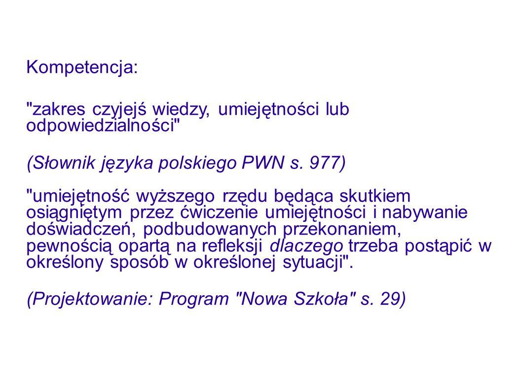 Kompetencja:
