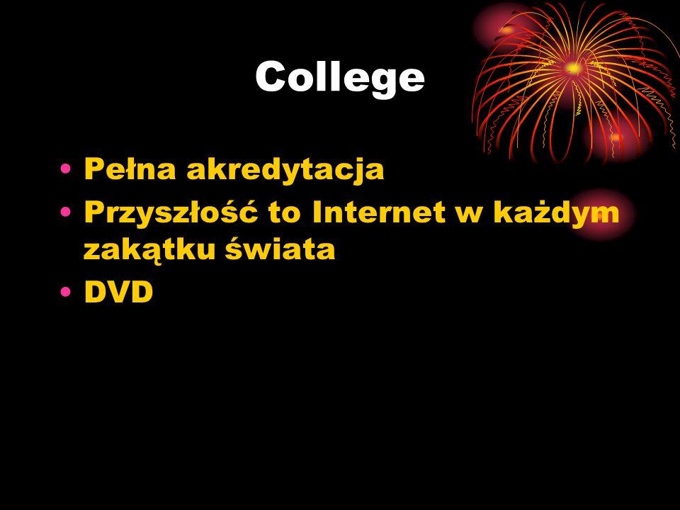 College Pełna akredytacja Przyszłość to Internet w każdym zakątku świata DVD