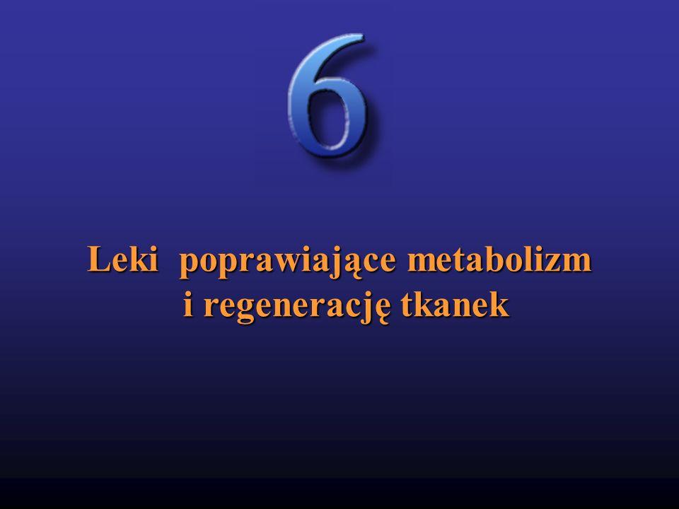 Leki poprawiające metabolizm i regenerację tkanek