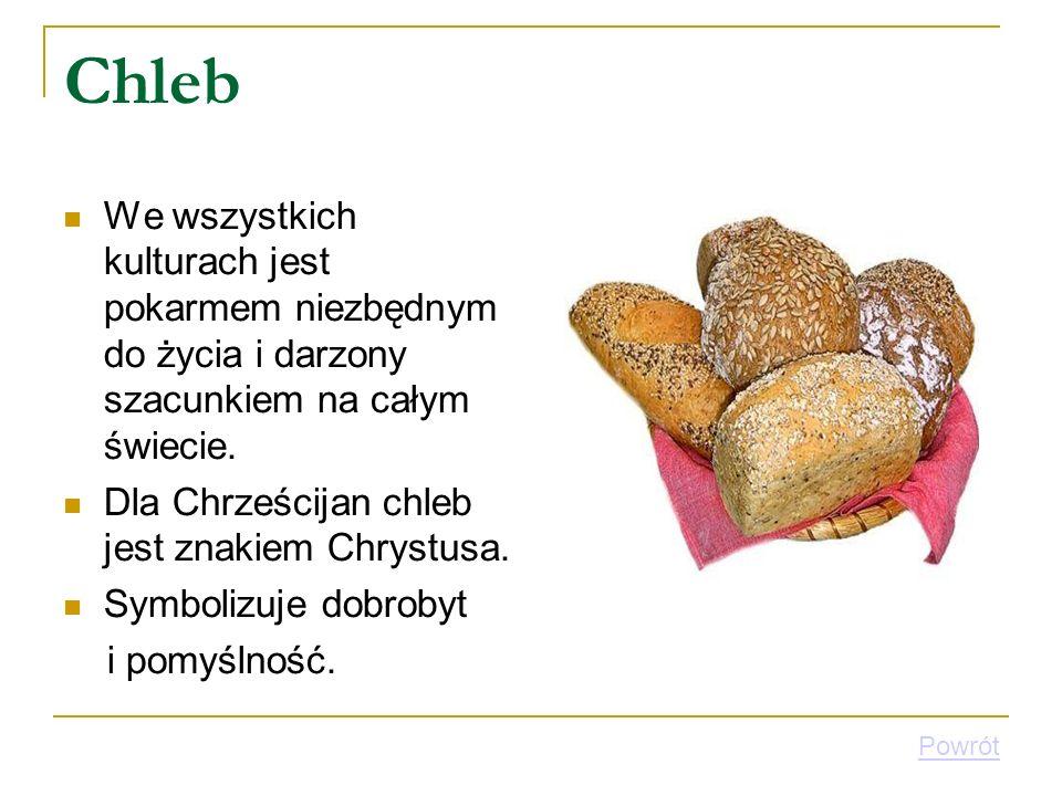 Chleb We wszystkich kulturach jest pokarmem niezbędnym do życia i darzony szacunkiem na całym świecie. Dla Chrześcijan chleb jest znakiem Chrystusa. S