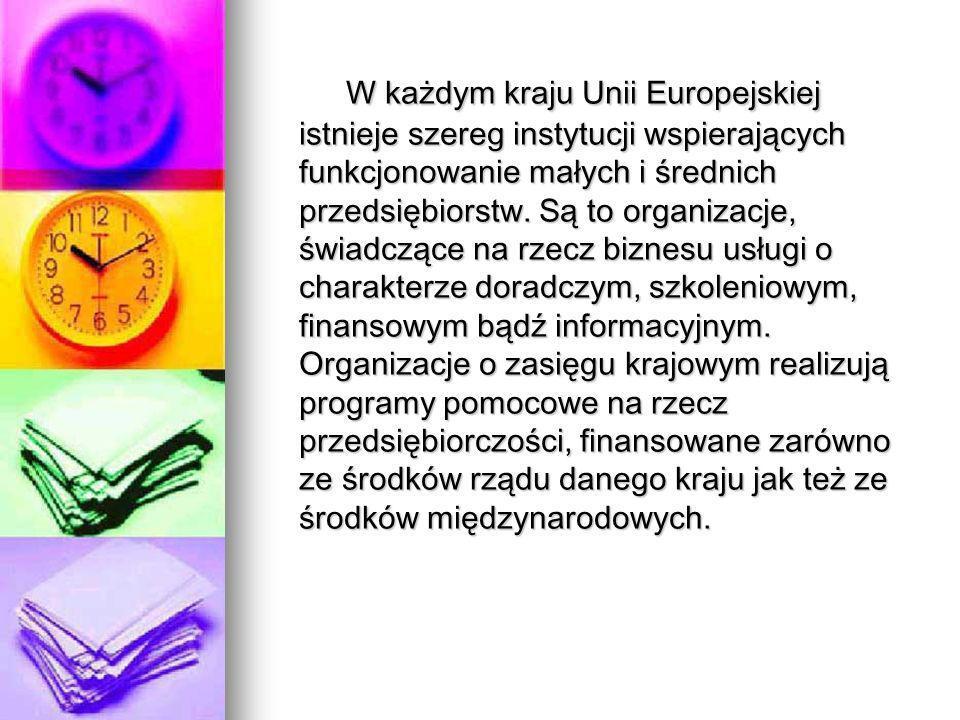 W 1995 r.przyjęto w Polsce rządowy program wspierania rozwoju małych i średnich przedsiębiorstw.