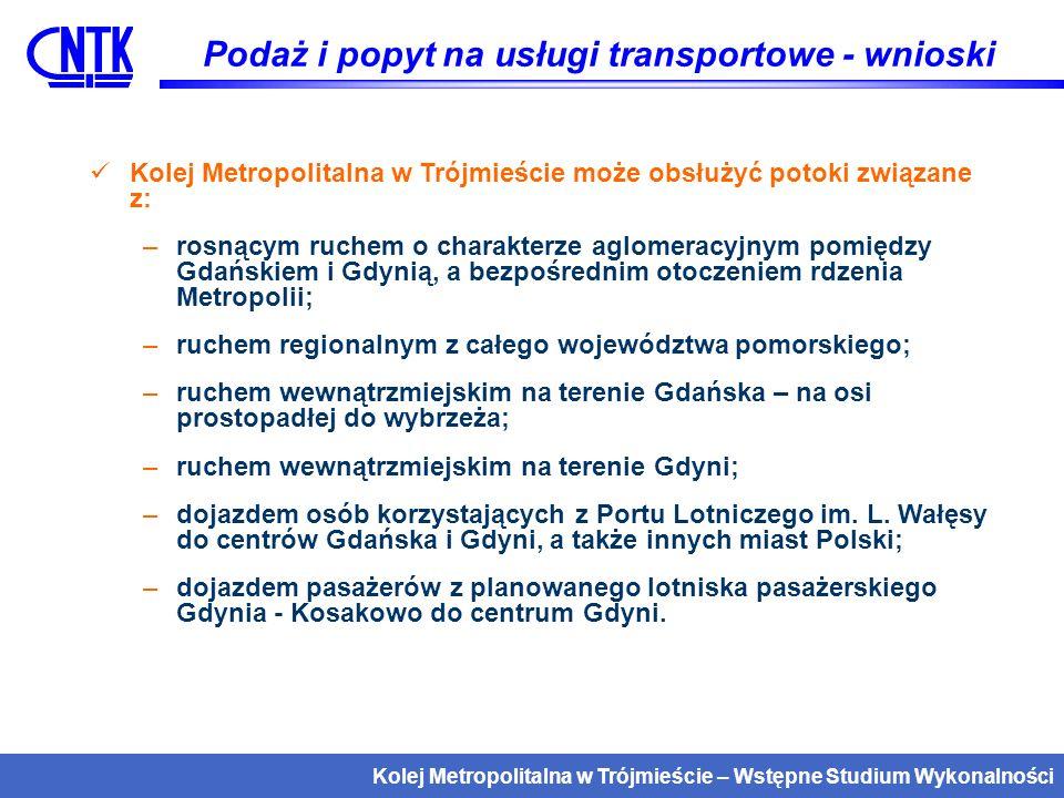 Kolej Metropolitalna w Trójmieście – Wstępne Studium Wykonalności Gdańsk Główny - Gdańsk Wrzeszcz - Gdańsk Niedźwiednik - Gdańsk Brętowo - Gdańsk Kiełpinek - Gdańsk Rębiechowo (Port Lotniczy im.