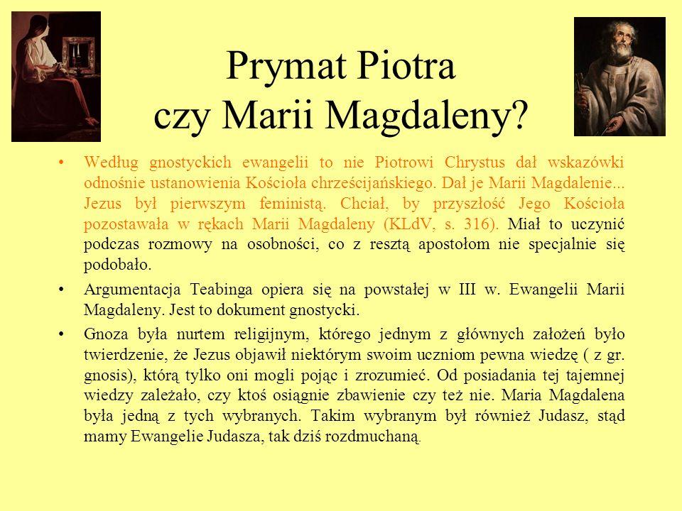 Prymat Piotra czy Marii Magdaleny? Według gnostyckich ewangelii to nie Piotrowi Chrystus dał wskazówki odnośnie ustanowienia Kościoła chrześcijańskieg