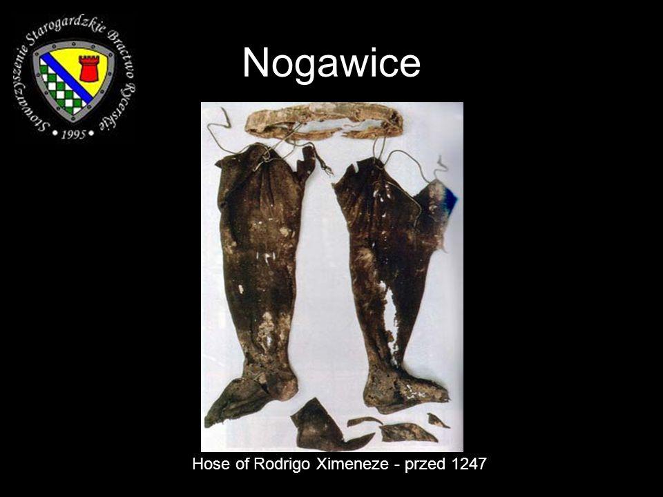 Nogawice Hose of Rodrigo Ximeneze - przed 1247