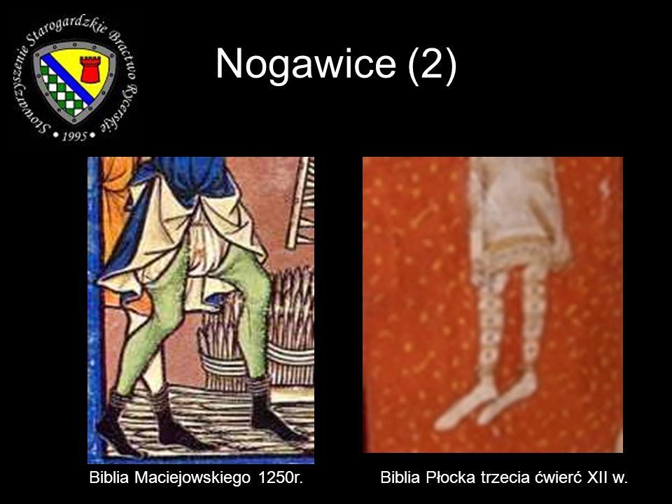 Nogawice (2) Biblia Maciejowskiego 1250r.Biblia Płocka trzecia ćwierć XII w.