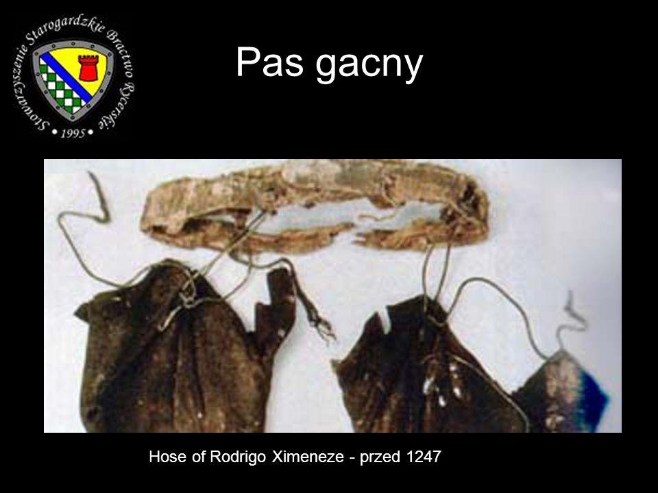 Pas gacny Hose of Rodrigo Ximeneze - przed 1247