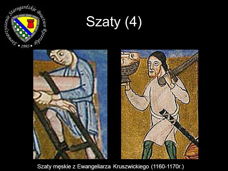 Szaty (4) Szaty męskie z Ewangeliarza Kruszwickiego (1160-1170r.)