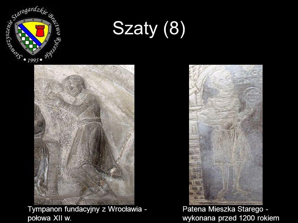 Szaty (8) Tympanon fundacyjny z Wrocławia - połowa XII w. Patena Mieszka Starego - wykonana przed 1200 rokiem