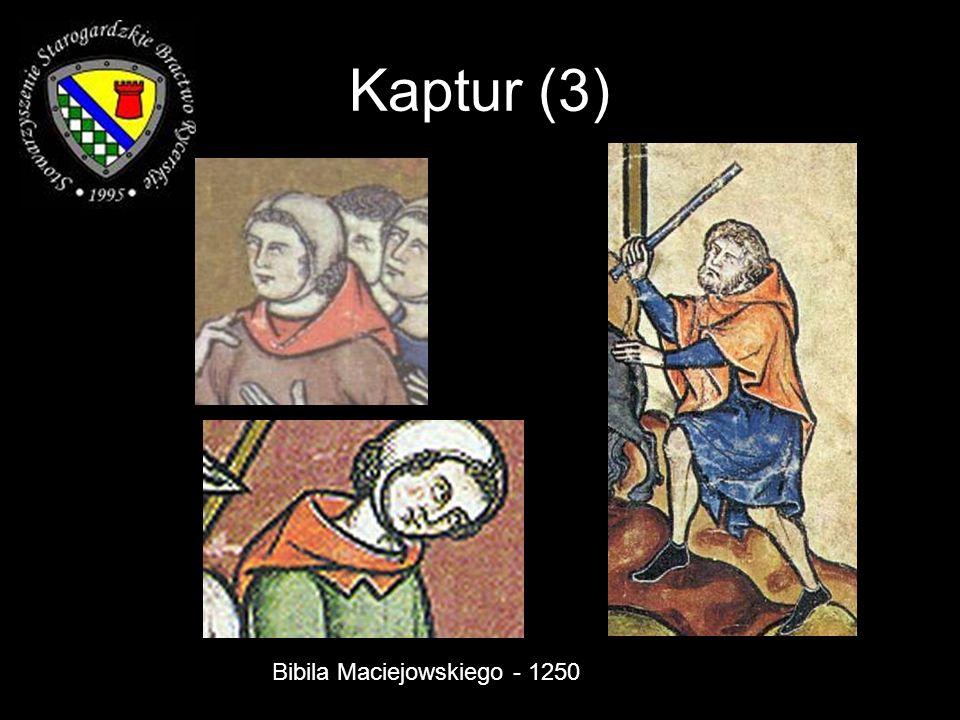 Kaptur (3) Bibila Maciejowskiego - 1250