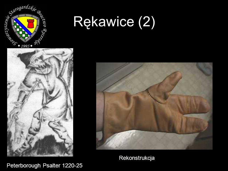 Rękawice (2) Peterborough Psalter 1220-25 Rekonstrukcja