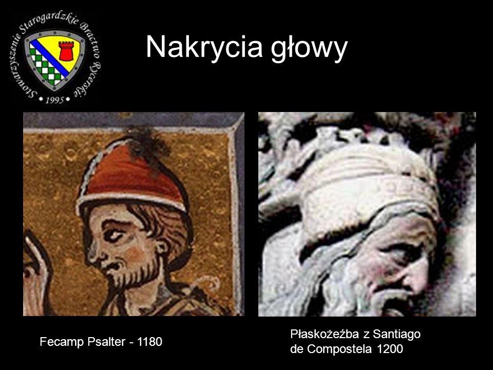 Nakrycia głowy Fecamp Psalter - 1180 Płaskożeźba z Santiago de Compostela 1200