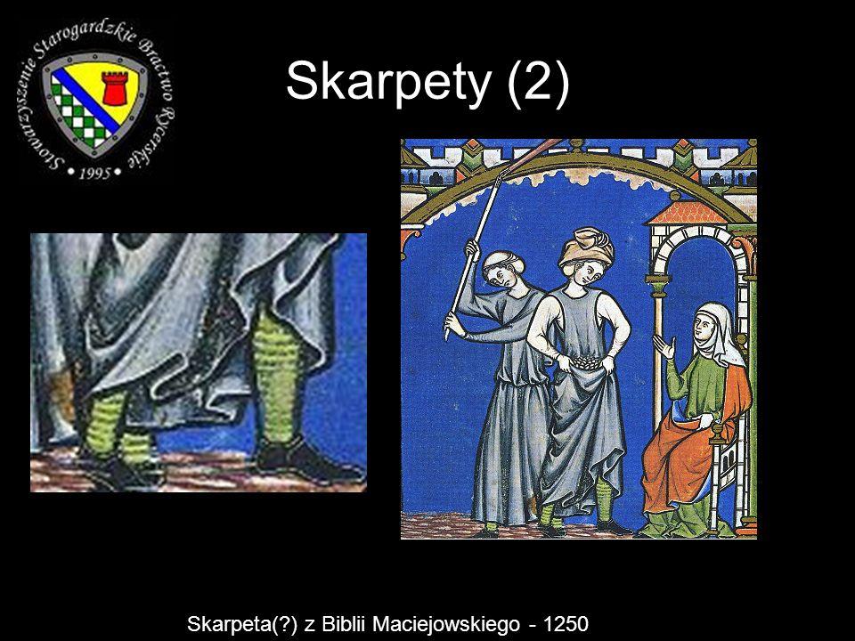 Skarpety (2) Skarpeta(?) z Biblii Maciejowskiego - 1250