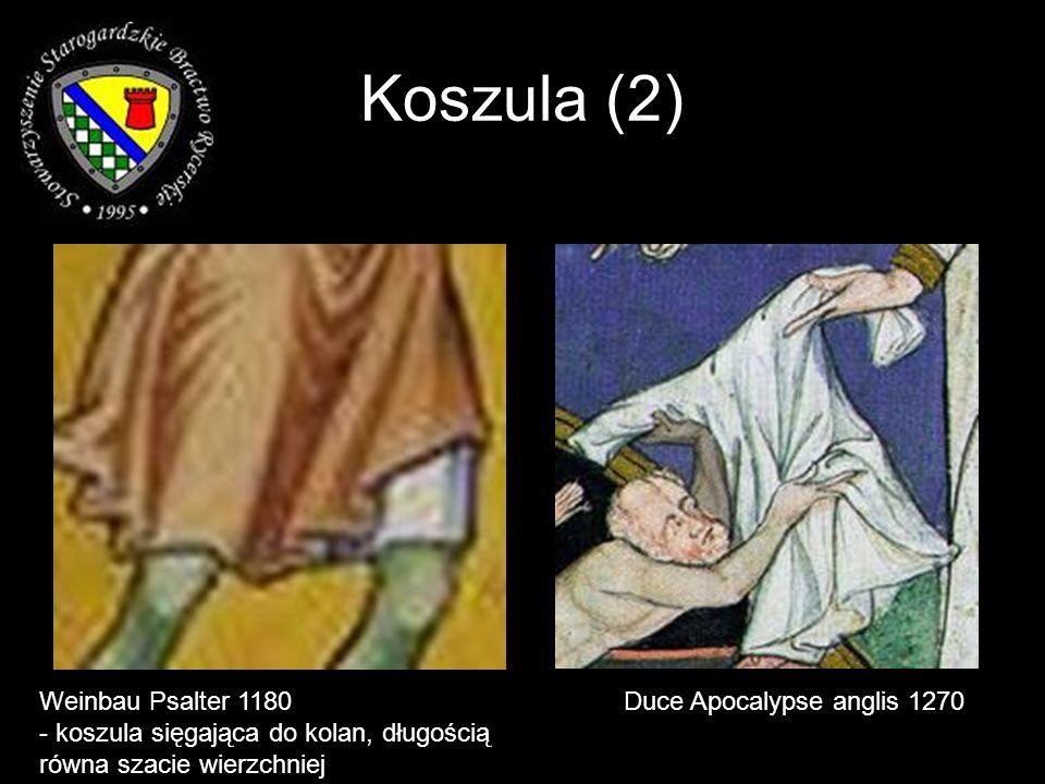 Weinbau Psalter 1180 - koszula sięgająca do kolan, długością równa szacie wierzchniej Duce Apocalypse anglis 1270 Koszula (2)