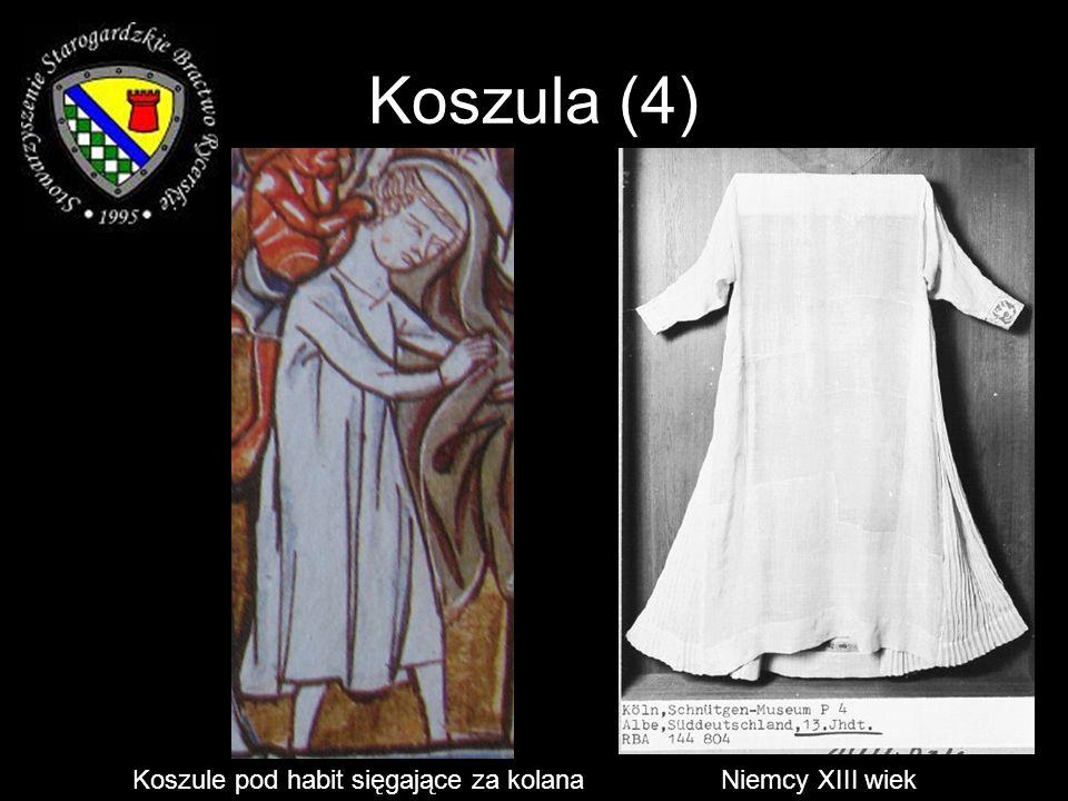 Szaty (9) Psałterz Potockich poł. XIII w. Szata św. Franciszka z Asyżu - przed 1226