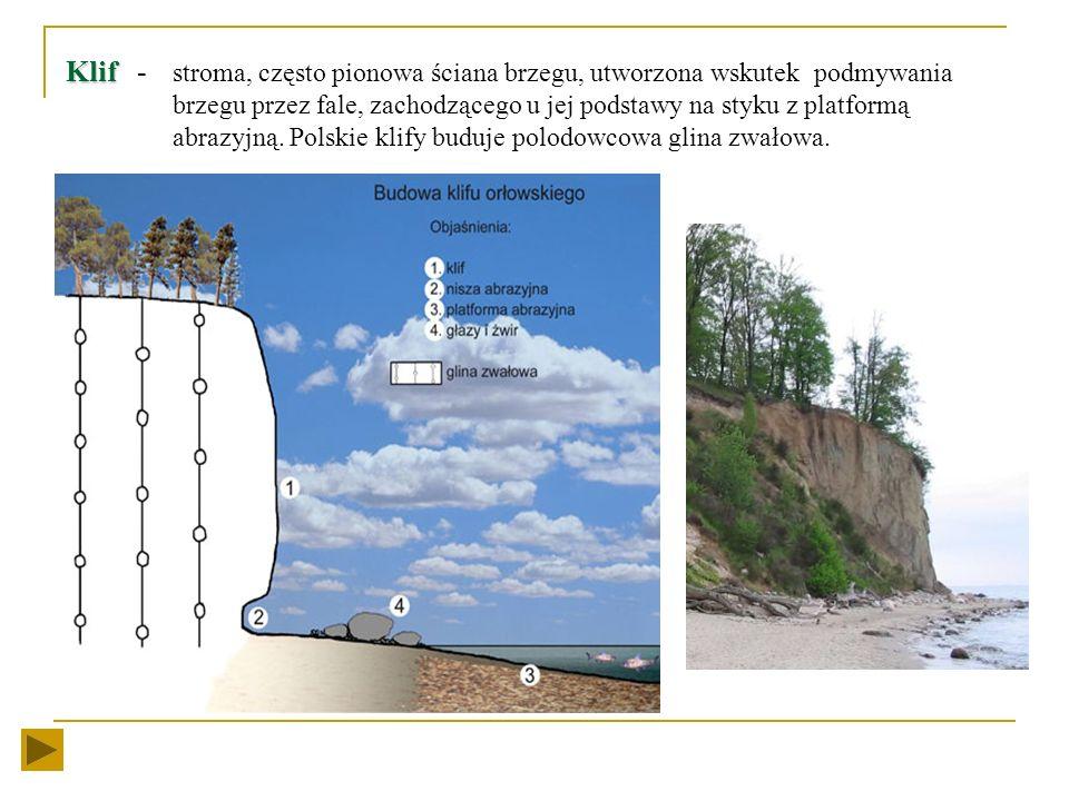 Działalność morza Głównym czynnikiem modelującym wybrzeże są fale i prądy przybrzeżne. wybrzeża niskiego a budująca wybrzeża niskiego (wydmowego) wybr
