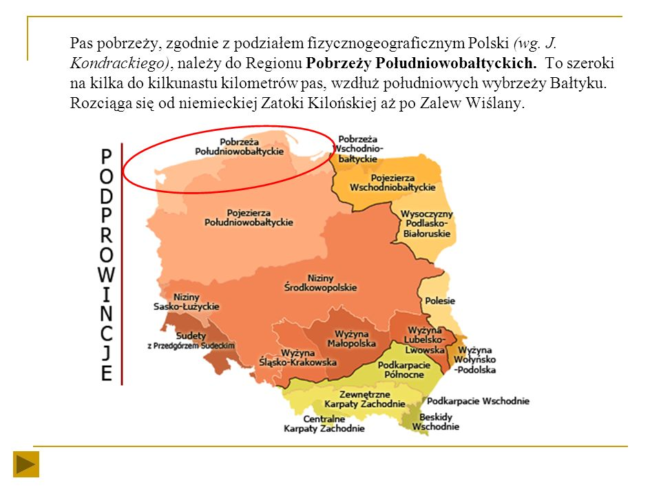 KRAJOBRAZY POLSKI PAS POBRZEŻY Anna Romańska SP 130 im. Marszałka Józefa Piłsudskiego w Łodzi