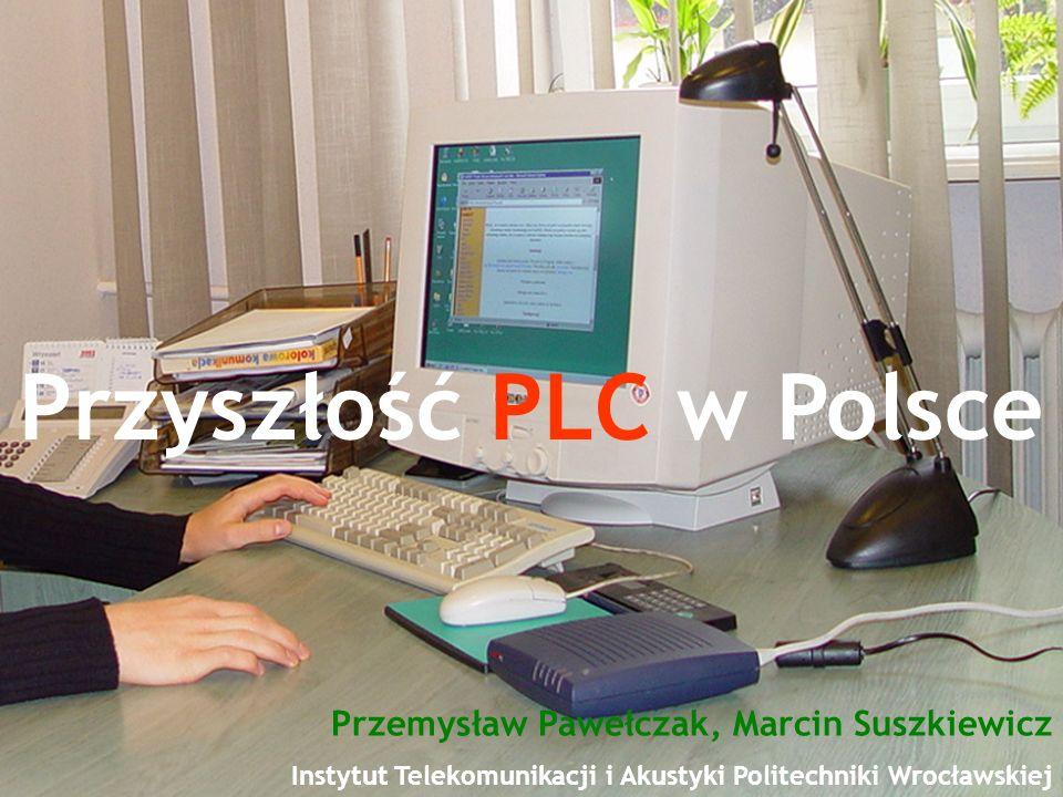 Plan prezentacji Marcin Suszkiewicz, Przemysław Pawełczak Przyszłość PLC w Polsce Historia transmisji danych poprzez sieci energetyczne Architektura i opis systemów PLC PLC w Polsce Koszty dostępu Aspekty prawne PLC w krajach Unii Europejskiej Podsumowanie Prognozy