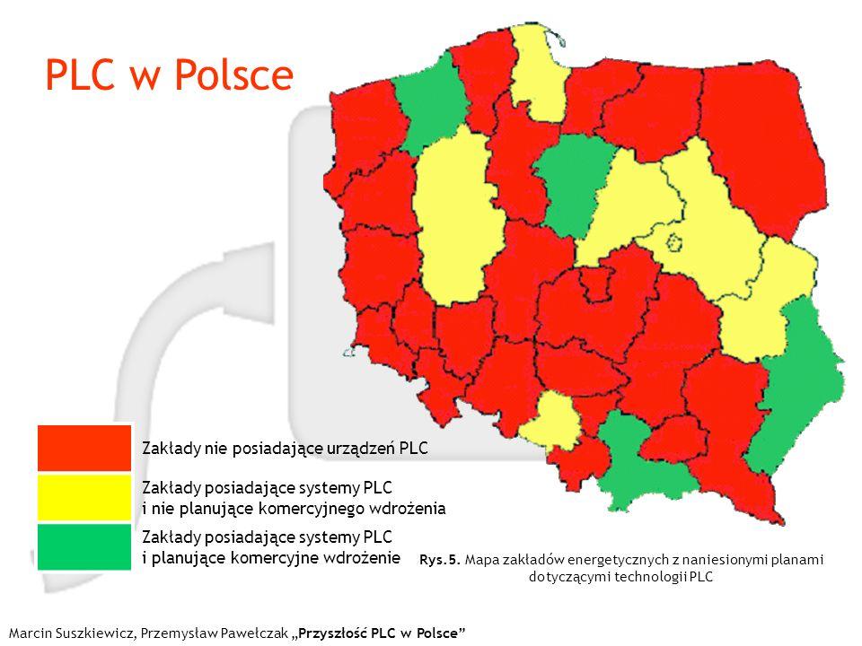 PLC w Polsce Marcin Suszkiewicz, Przemysław Pawełczak Przyszłość PLC w Polsce Zakłady nie posiadające urządzeń PLC Zakłady posiadające systemy PLC i n