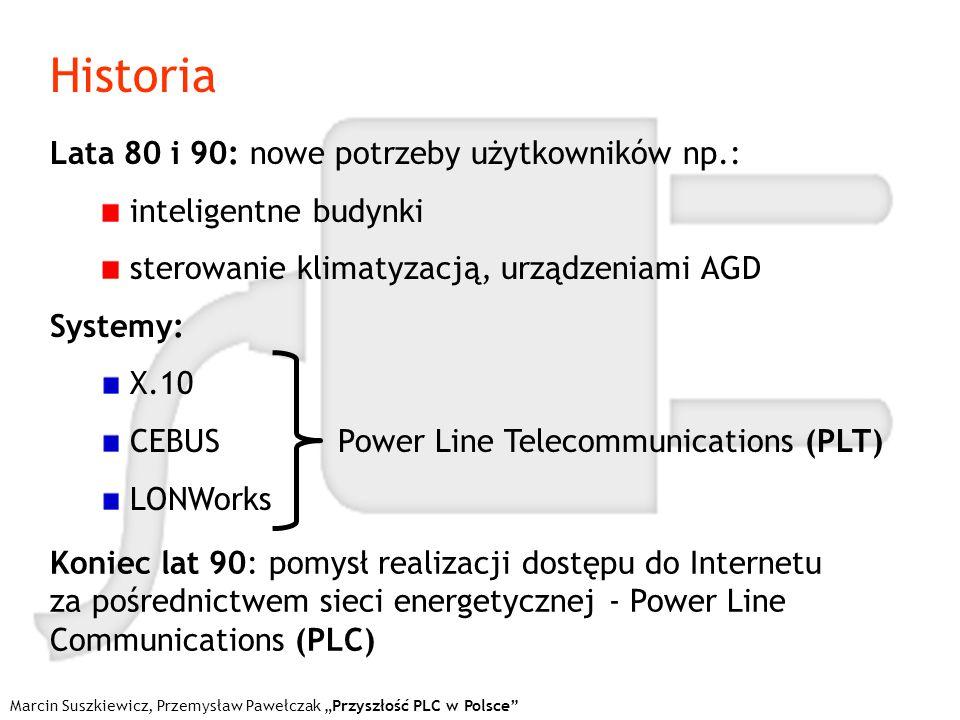 Architektura systemu System jednostopniowy: wykorzystuje tylko zewnętrzną infrastrukturę energetyczną Marcin Suszkiewicz, Przemysław Pawełczak Przyszłość PLC w Polsce Rys.