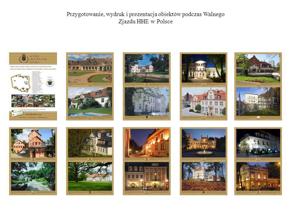 Przygotowanie, wydruk i prezentacja obiektów podczas Walnego Zjazdu HHE w Polsce