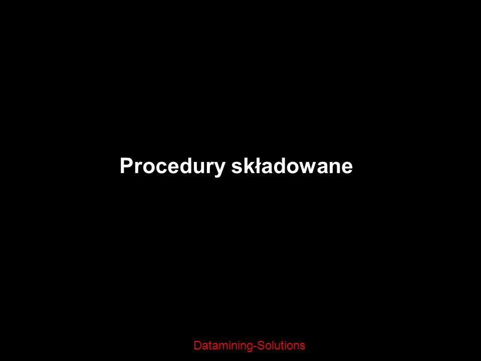 Datamining-Solutions Procedury składowane