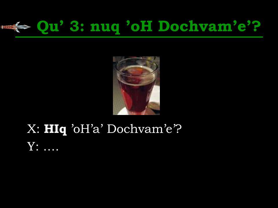 Qu 3: nuq oH Dochvame? X: HIq oHa Dochvame? Y:....