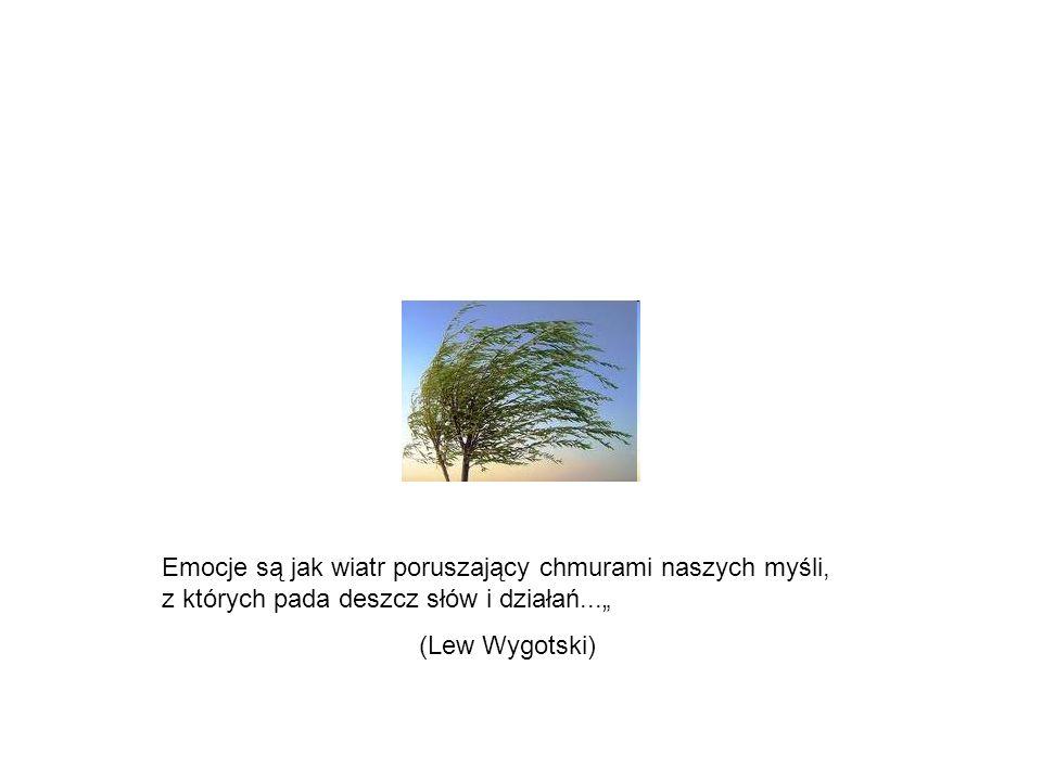 Emocje są jak wiatr poruszający chmurami naszych myśli, z których pada deszcz słów i działań... (Lew Wygotski)