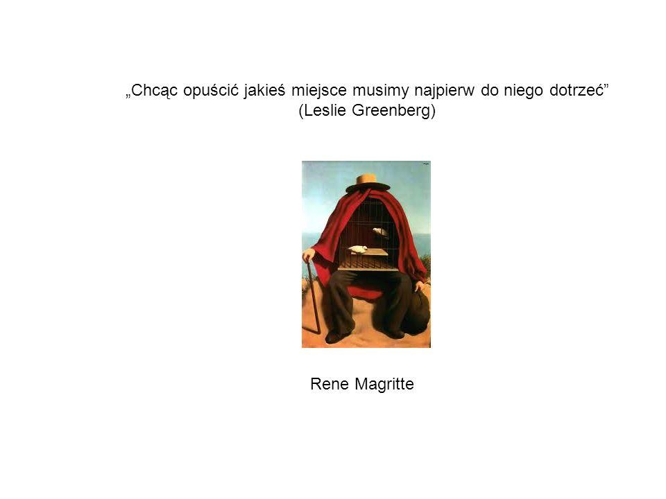 Chcąc opuścić jakieś miejsce musimy najpierw do niego dotrzeć (Leslie Greenberg) Rene Magritte