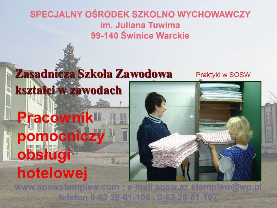Zasadnicza Szkoła Zawodowa kształci w zawodach Fryzjer Praktyki w SOSW