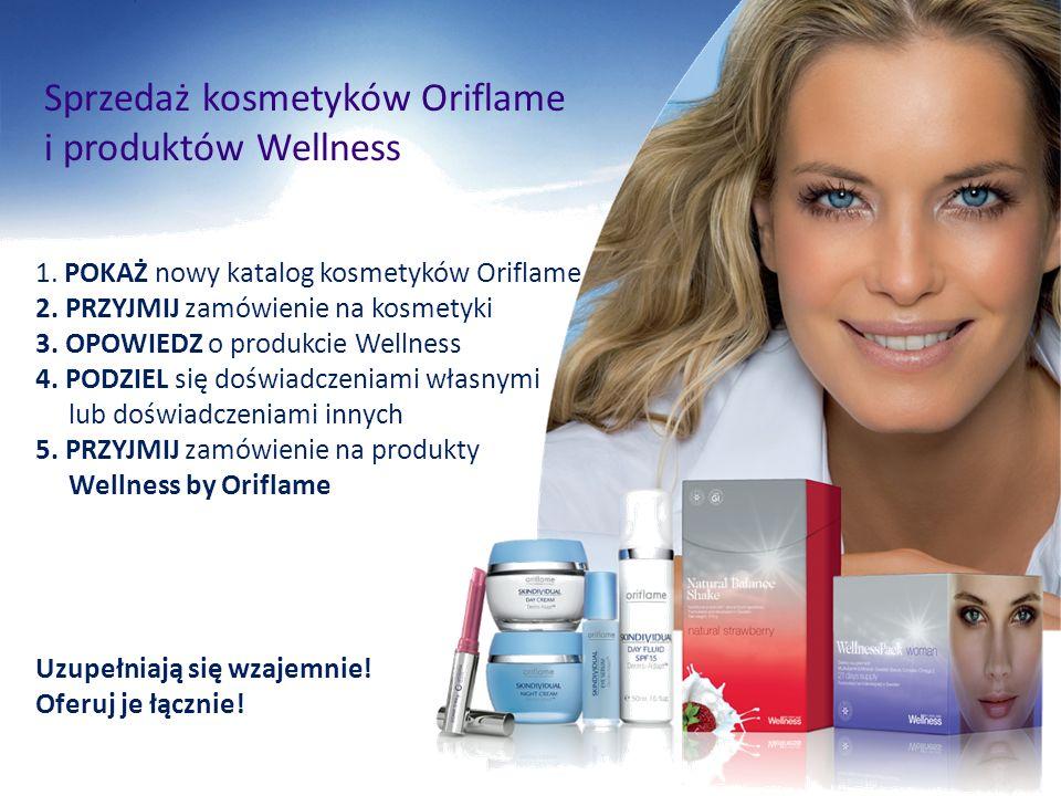 Sprzedaż kosmetyków Oriflame i produktów Wellness 1. POKAŻ nowy katalog kosmetyków Oriflame 2. PRZYJMIJ zamówienie na kosmetyki 3. OPOWIEDZ o produkci