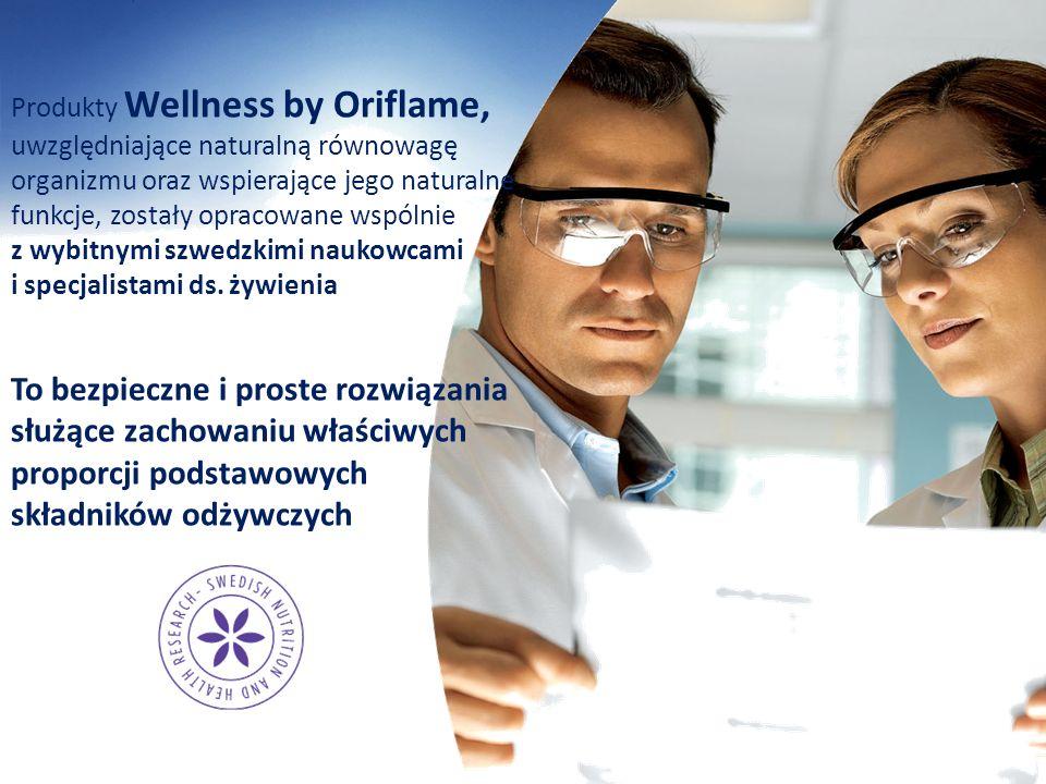 Produkty Wellness by Oriflame, uwzględniające naturalną równowagę organizmu oraz wspierające jego naturalne funkcje, zostały opracowane wspólnie z wyb