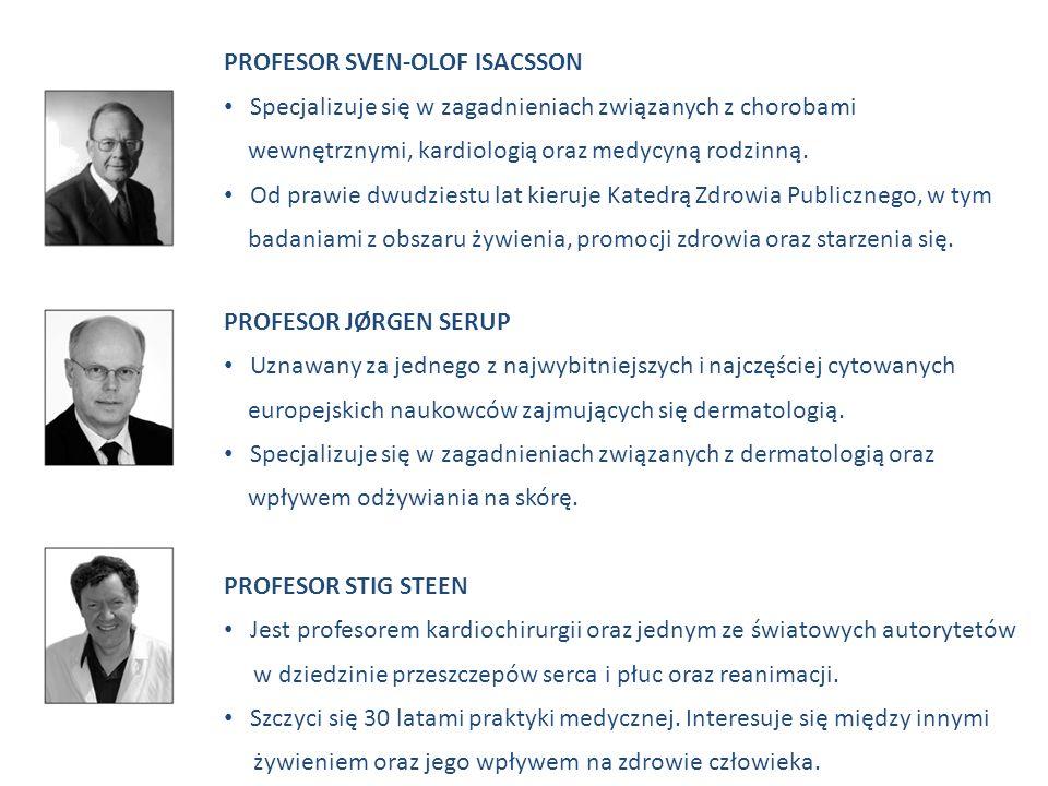 PROFESOR SVEN-OLOF ISACSSON Specjalizuje się w zagadnieniach związanych z chorobami wewnętrznymi, kardiologią oraz medycyną rodzinną. Od prawie dwudzi