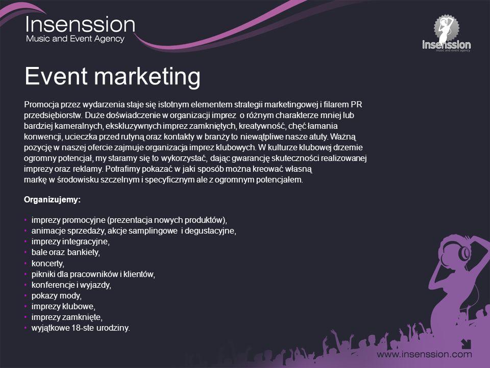 Event marketing Promocja przez wydarzenia staje się istotnym elementem strategii marketingowej i filarem PR przedsiębiorstw.
