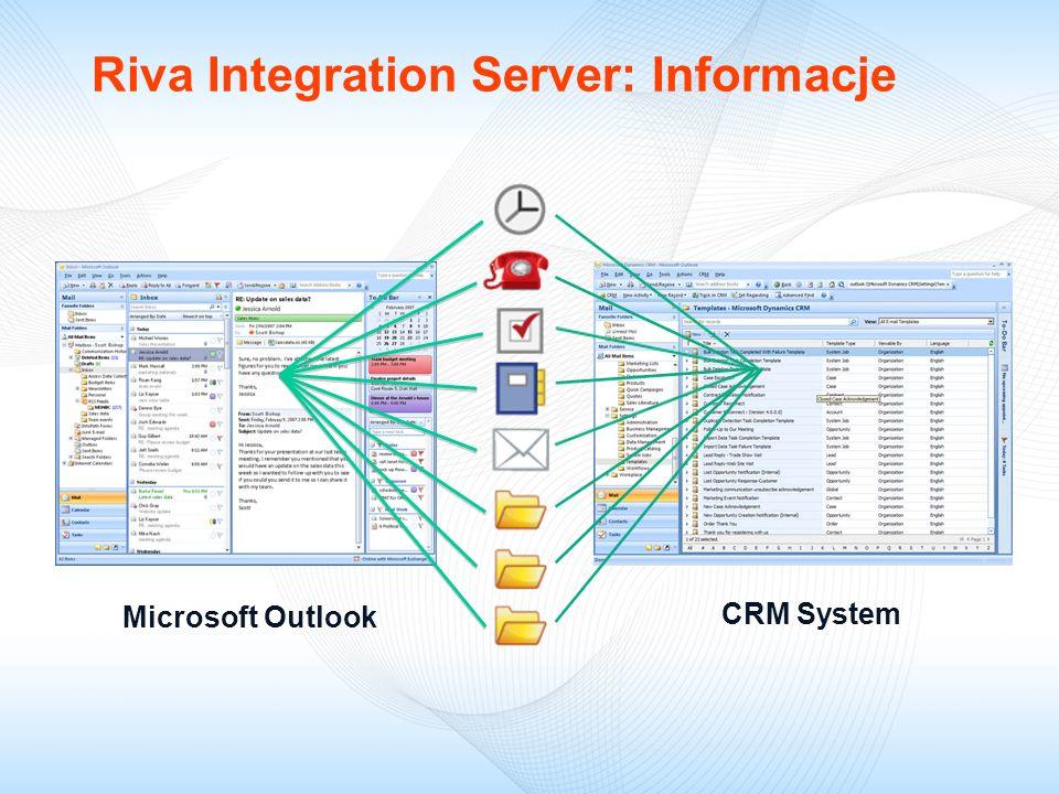 Microsoft Outlook CRM System Microsoft Outlook Riva Integration Server: Informacje
