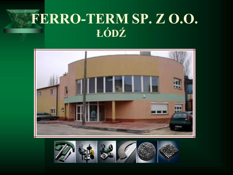 O FIRMIE Spółka Ferro Term swoją działalność rozpoczęła w 1989r.