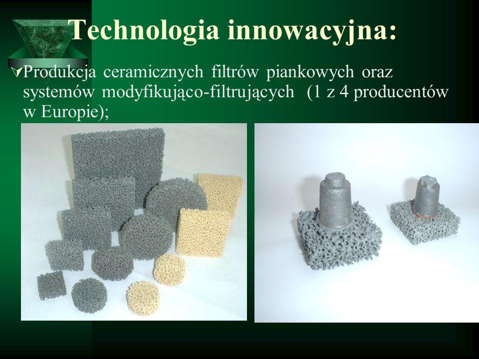 Odbiorcy filtrów: 70% rynku polskiego Eksport do 12 krajów - Niemcy - Turcja - Austria - Szwecja - Ukraina - Wielka Brytania - Włochy - Hiszpania - Czechy - Rosja - Indie