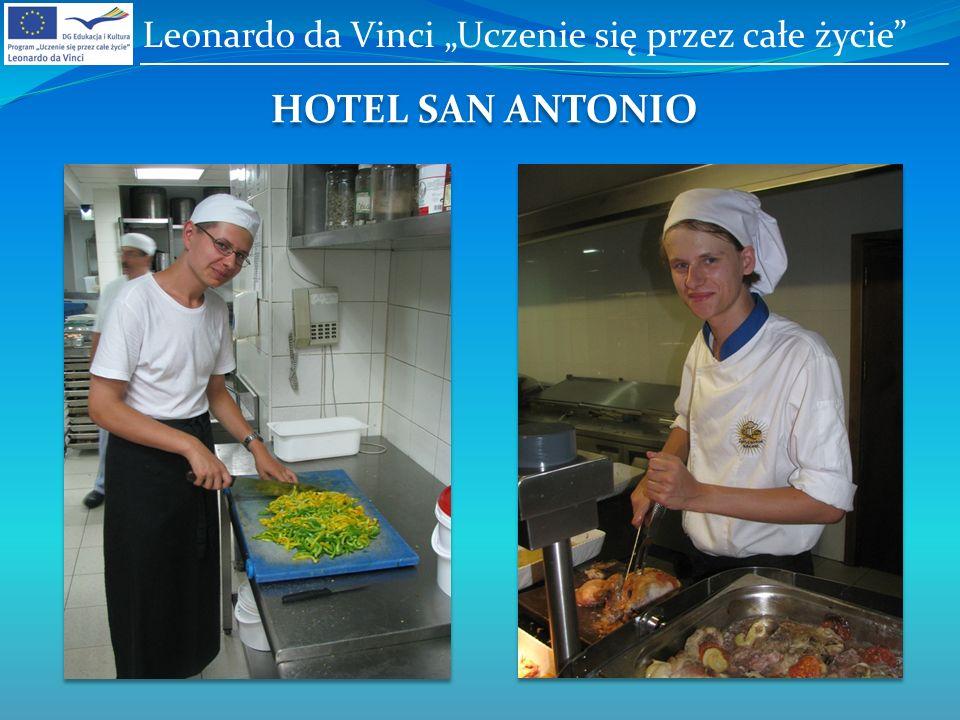 HOTEL SAN ANTONIO Leonardo da Vinci Uczenie się przez całe życie