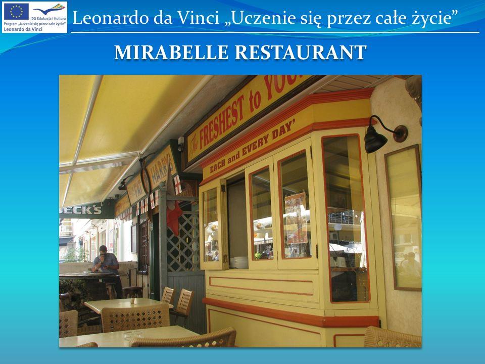 MIRABELLE RESTAURANT Leonardo da Vinci Uczenie się przez całe życie