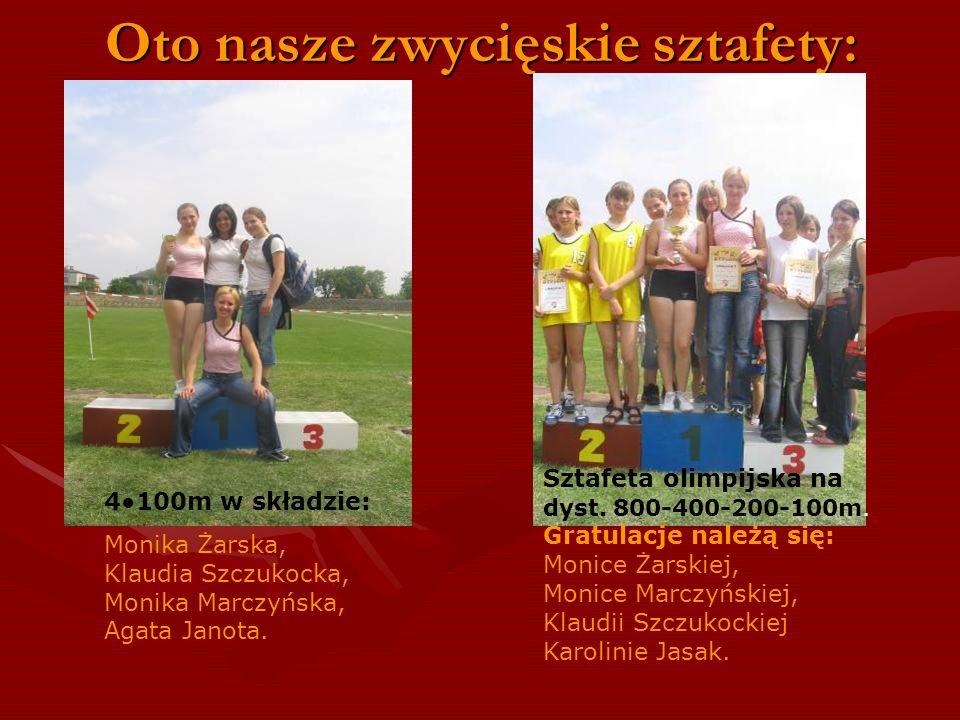 Laury zbieraliśmy również w biegach sztafetowych: