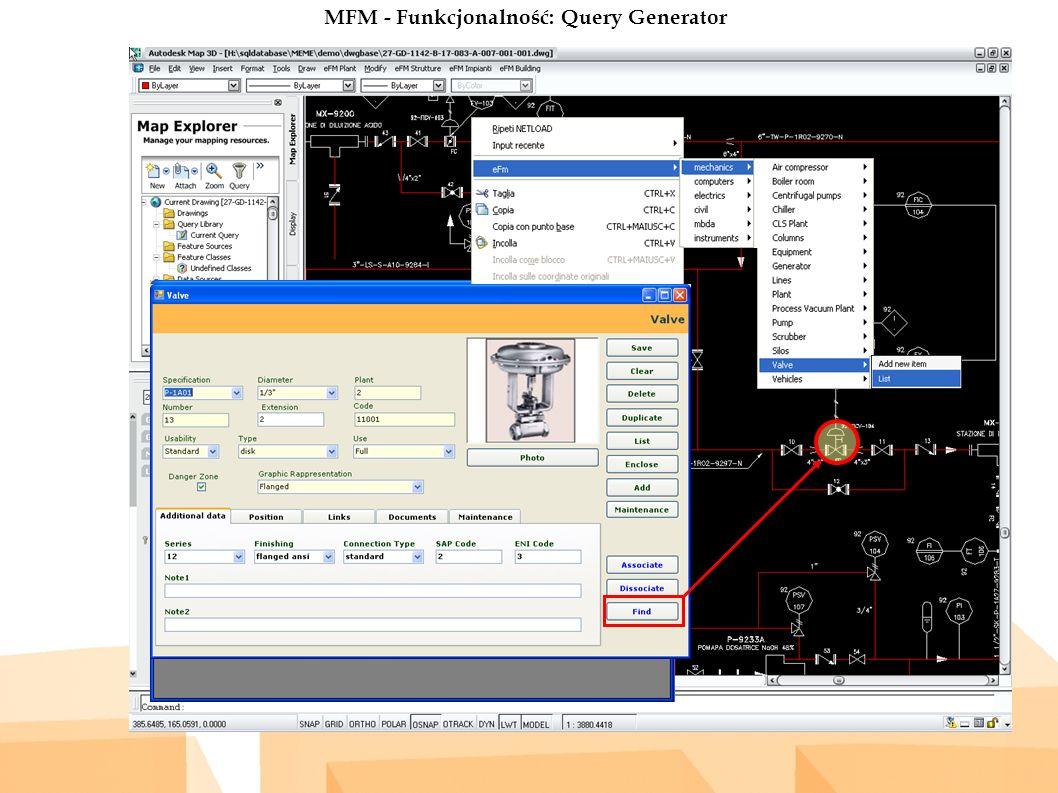 MFM - Funkcjonalność: Query Generator